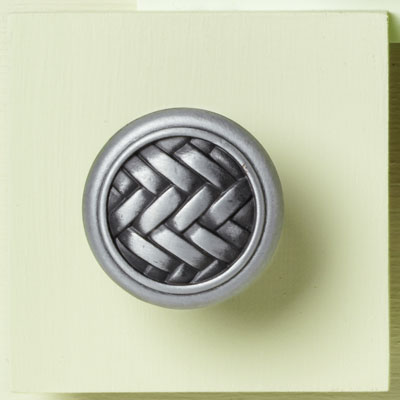 zinc cabinet knob with a weaved design