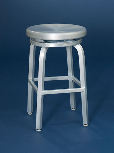 brushed aluminum backless stool from this old house shopping