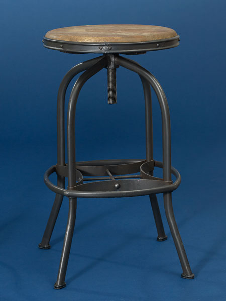 Steel and mango wood backless stool from this old house shopping