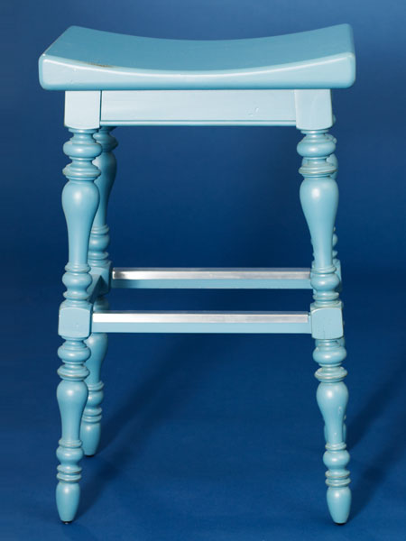 Painted poplar  backless stool from this old house shopping