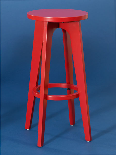 Painted solid and engineered wood  backless stool from this old house shopping