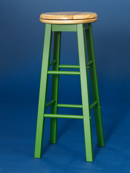 Painted pine backless stool from this old house shopping