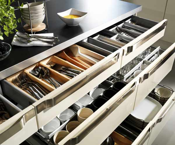 IKEA drawer organizers for kitchen tools