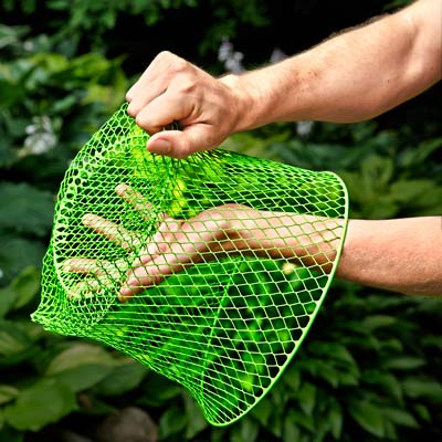 how to use a mesh basket to protect against vole damage