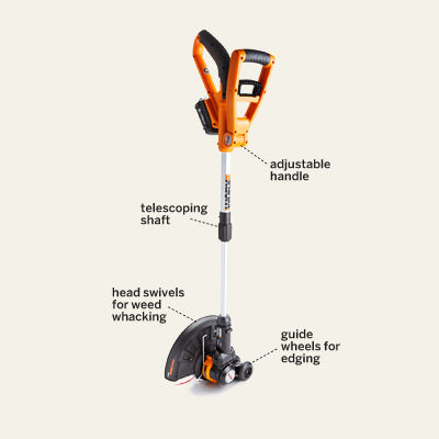 Worx GT 18-volt lightweight string trimmer-edger