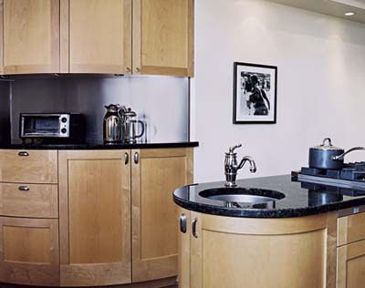 custom curved cabinets