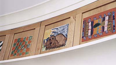 ceiling-height cabinet doors