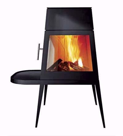 Shaker style fireplace