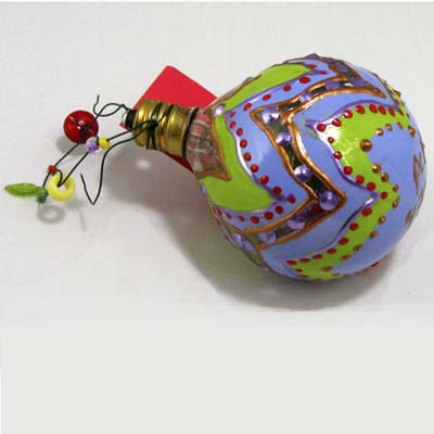 hand-painted bulb ornament for the christmas tree