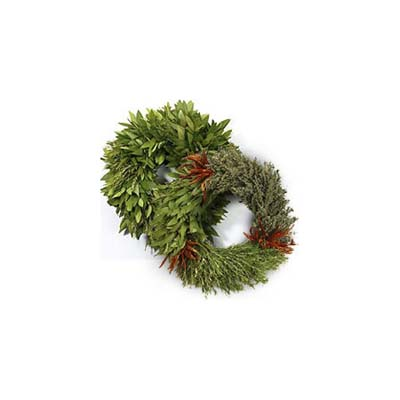 3 herb wreath pair