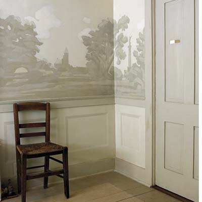 illustrated dining room walls