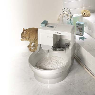 appliance to rinse away cat waste