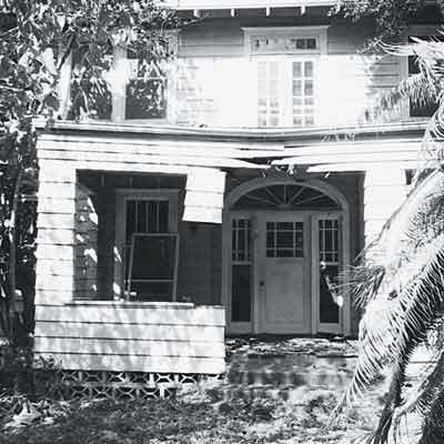 before image of dilapidated Craftsman