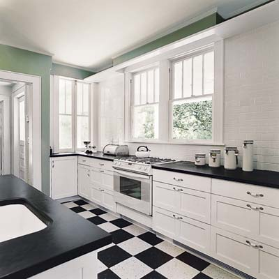 remodeled Craftsman kitchen with updated 1920s look