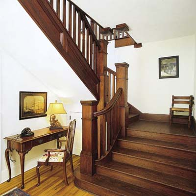 refinished Craftsman staircase
