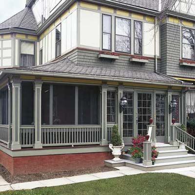 side porch rails and balusters
