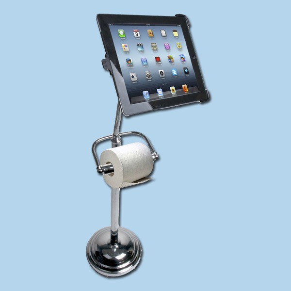 wackiest bath products toilet paper holder with ipad stand