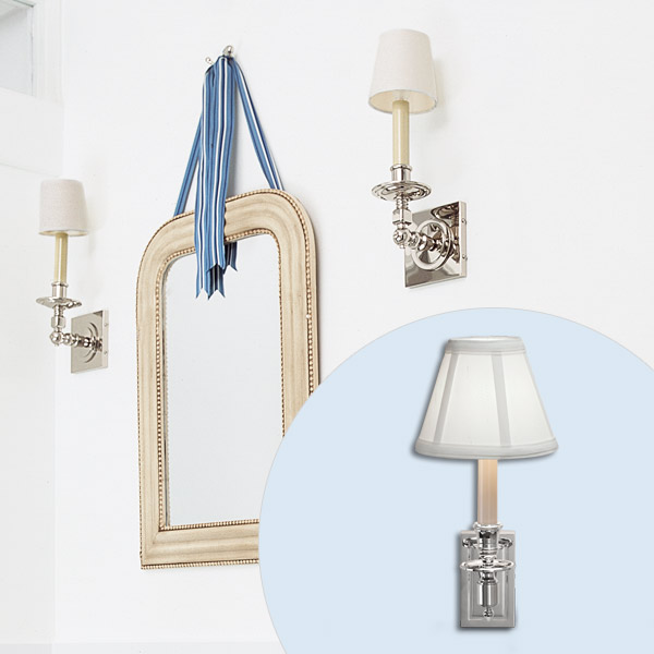 get this look updated victorian style bath with library-style wall sconce