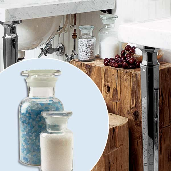 get this look updated victorian style bath with apothecary jars