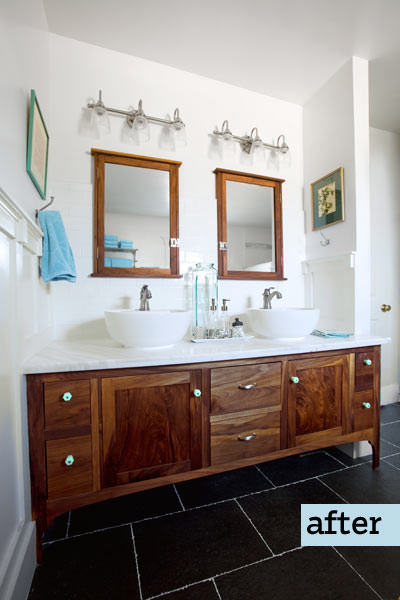 attic remodel turned master bath with raised shed dormers, double vanity sinks