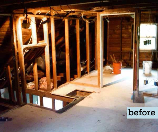 Low Ceilings With Cramped Style Before A Diy Attic