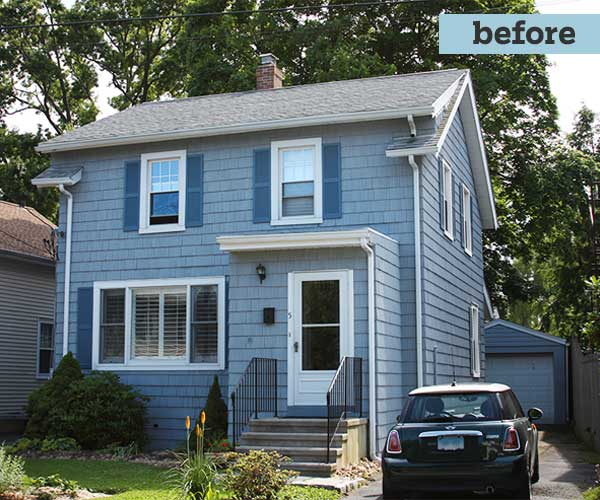 exterior of the cottage style Before the photoshop remodel to a cape style
