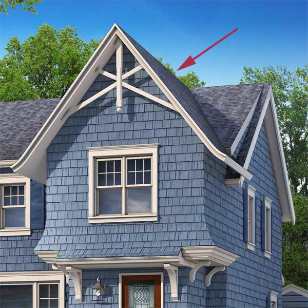 proposed matching gables of the cottage style in the photoshop remodel to a cape style