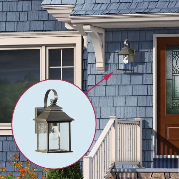 proposed Sconce of the cottage style in the photoshop remodel to a cape style