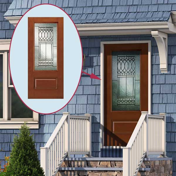 proposed Door of the cottage style in the photoshop remodel to a cape style