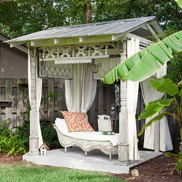 12 inject vintage style reclaimed parts 37 easy ways for Diy garden room