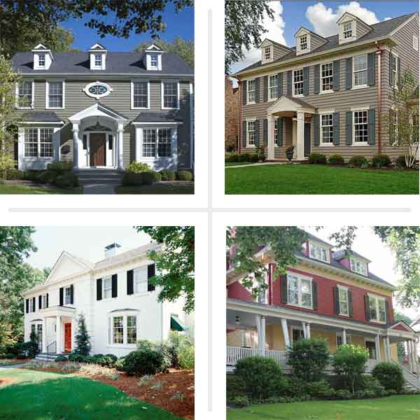 best exterior colors for colonial revival houses