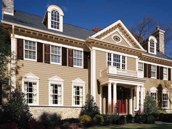 Rich and warm paint color ideas for colonial revival Front door color ideas for beige house