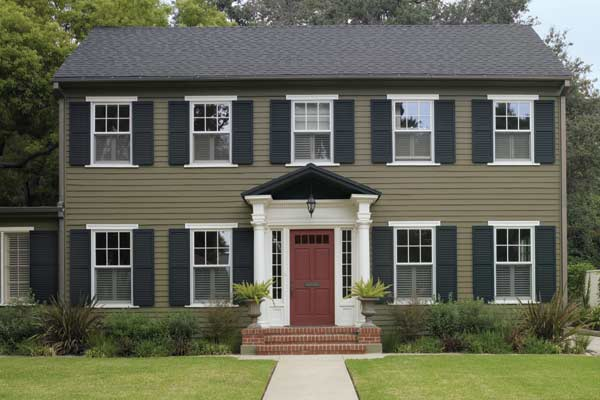 colonial house colors exterior