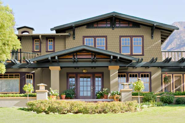 Richly Detailed Paint Color Ideas For Craftsman Houses