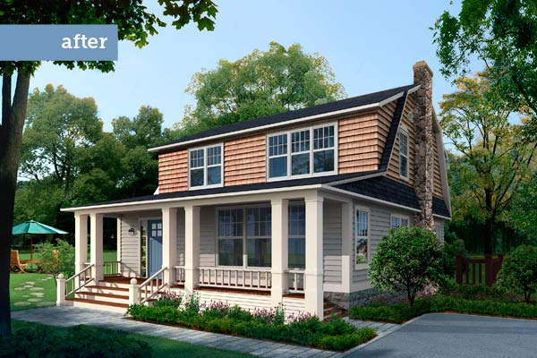 a 1930s Dutch Colonial after the Photoshop redo