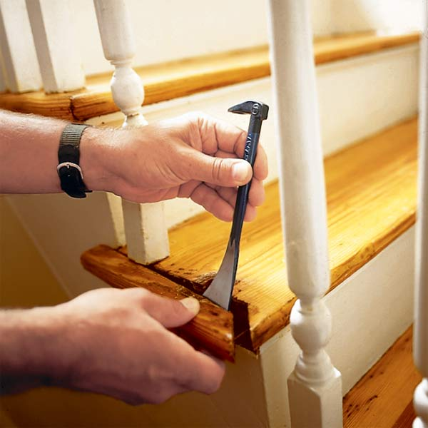 tighten a loose stair baluster, homeowner survival skills