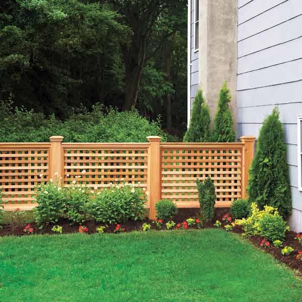 trellis style yard fence, homeowner survival skills