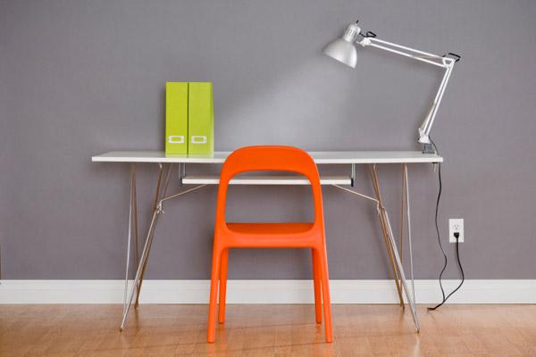 table lamp for tasking lighting on desktop, homeowner survival skills