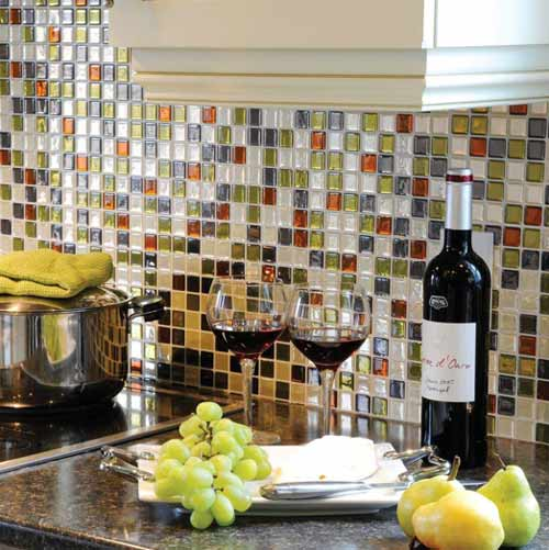 peel and stick mosaic tile backsplash, fast fixes