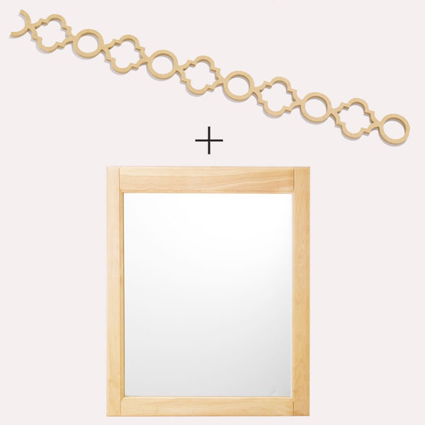 overlay with a plain mirror