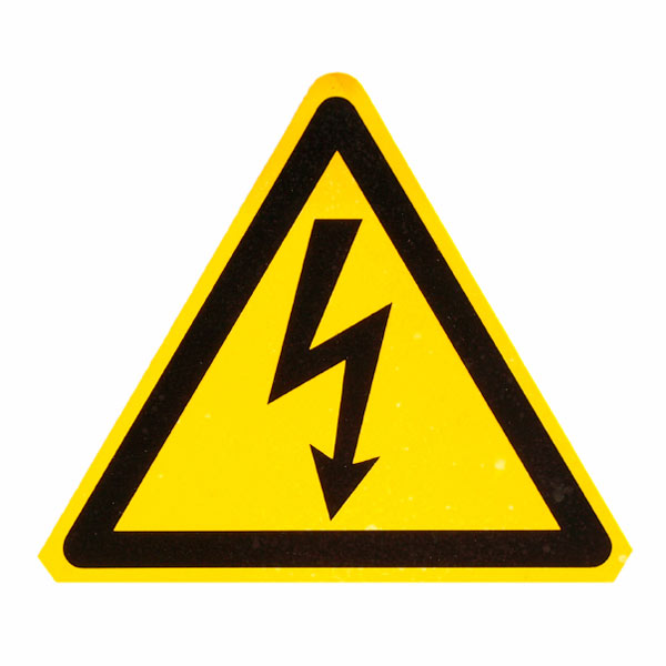electric shock warning sign, holiday disaster