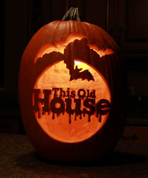 This Old House Pumpkin from the 2013 Pumpkin Carving Contest