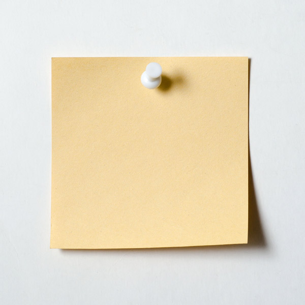 10 uses for weatherstripping yellow sticky note tacked to wall
