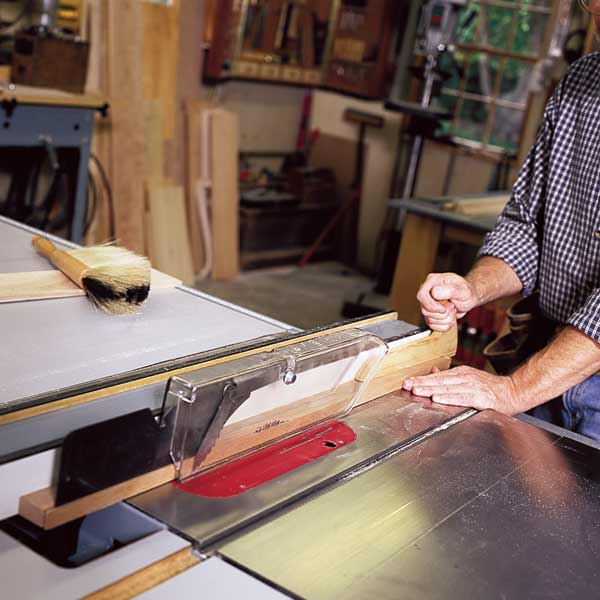 10 uses for weatherstripping foam weatherstripping on end of push block on table saw