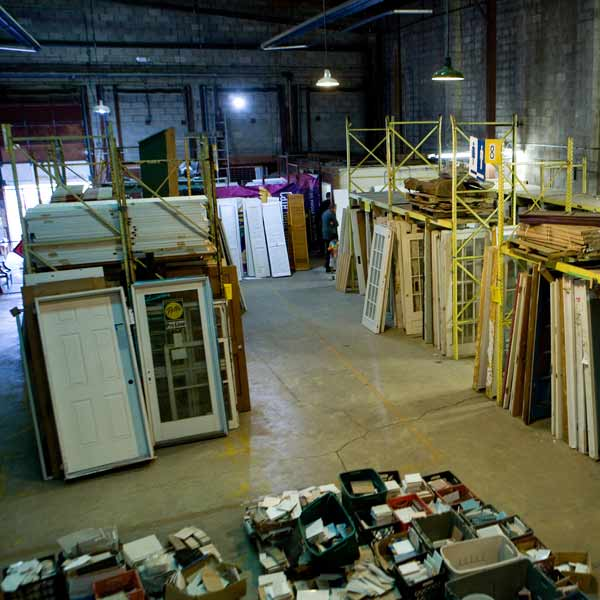 reuse store stocked with never been used building supplies