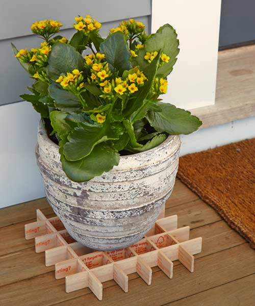 10 uses paint stirrer used to raise planter off ground