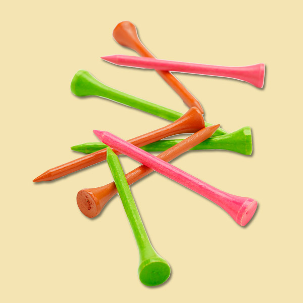 neon color golf tees