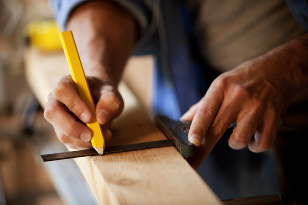 marking lumber with shop pencil, 10 uses for bricks