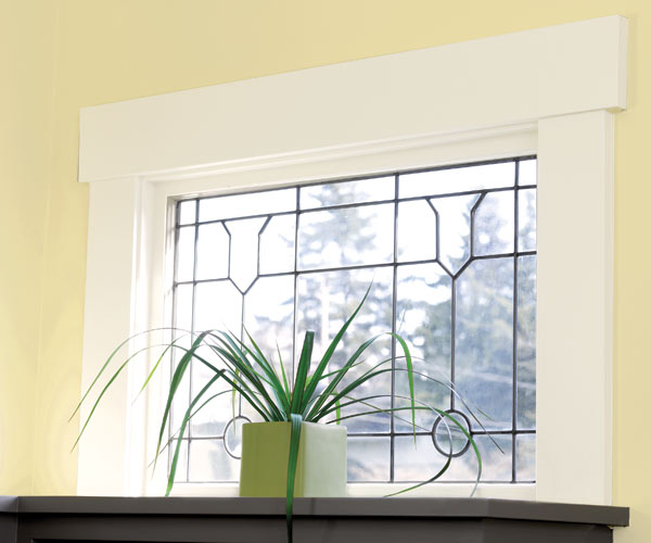 whole house remodel bungalow living room leaded-glass window