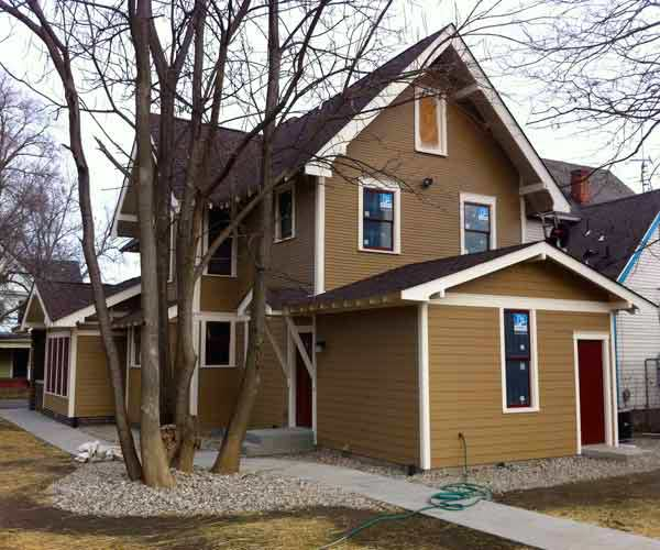 after arts and crafts style whole house remodel into three housing units
